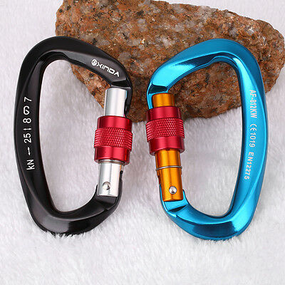 25KN Professional Safety Master Lock Mountain Climbing Carabiner Equipment