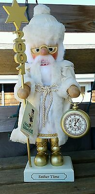 Christian Ulbricht FATHER TiME 2001 Nutcracker Limited Edition Germany RARE 18""
