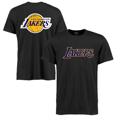Los Angeles Lakers '47 NBA Splitter Double Sided T-Shirt - Black