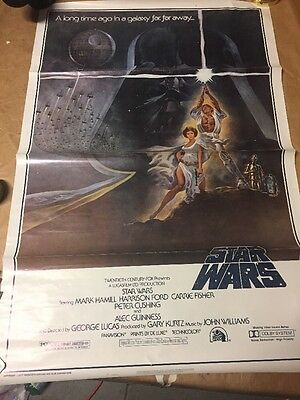 Star Wars 1977 Movie Theatre One Sheet Great Condition 77/21