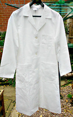 """REAL Doctor Kitchen Beautician Health Care Laboratory White Coat Poly/Cotton 38"""""""