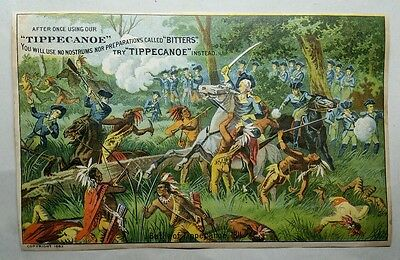 Rare Antique Dr Warner's Tippecanoe Bitters + Safe Cure Lithograph Advertising