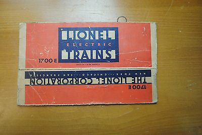 Lionel 1700E Diesel, Power Unit Only Box Only