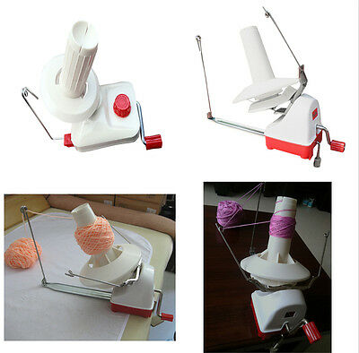 Portable Hand-Operated Yarn Winder Wool String Thread Skein Machine Tool Kit New
