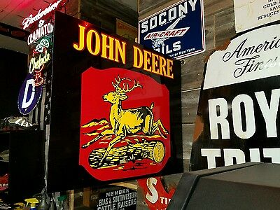 John Deere Flange Sign Antique Style 18x22 Awesome!!