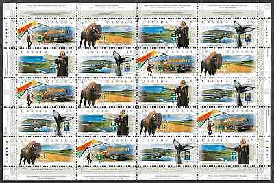 Canada Stamps - Full Pane of 20 - Scenic Highways-3  #1780-1783 - MNH