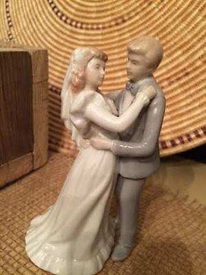 Roman Porcelain Dancing Wedding Couple Bride Groom Cake Topper Figure - Vintage