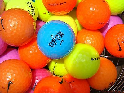 50 Mixed Coloured Nike Golf Balls In Mint/a Grade Condition