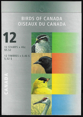 Canada Stamps - Booklet of 12 in Cover - Birds of Canada #1777a-b (BK218) - MNH