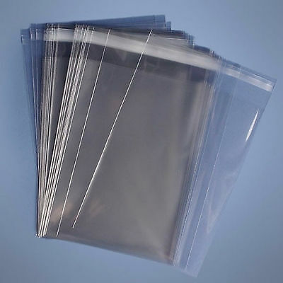 """5x7"""" Clear Cello Card Bags Cellophane Display Bag for Greeting Cards & Photos"""