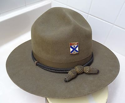 Rare Army Col Later General Robert Gordon Springer Wwii 169Th Inf Campaign Hat