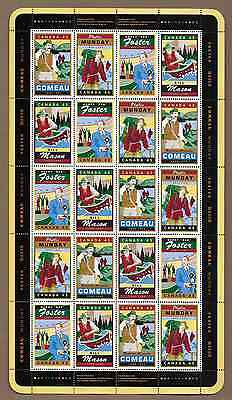 Canada Stamps - Full Pane of 20 - Legendary Canadians #1750-1753 - MNH