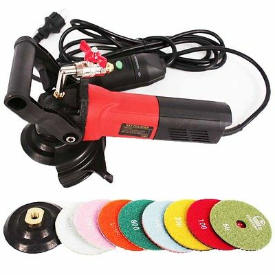 "240v Professional 4"" Variable Speed Wet Stone Polisher For Granite Marble Stone"