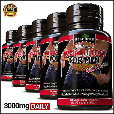 Weight Loss For Men Fat Burner Capsules Garcinia Pills Slimming Diet Ultra Pure