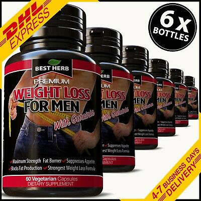6 X Extreme Weight Loss For Men Fat Burner Detox Slimming Capsules Diet Pills