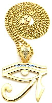 Eye Of Horus New Pendant Necklace with 24 Inch Long Chain Egyptian Heru