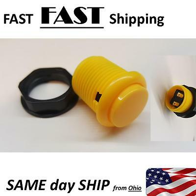 """yellow push button """"non latching"""" temporary momentary SWITCH"""