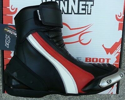 bottes chaussures moto en cuir 35 36 37 38 39 40 41 42 43 44 45 46  NEUF rouge