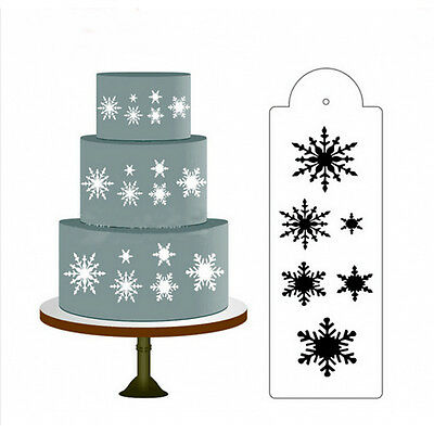 Snow Flower Cake Stencil Fondant Designer Decorating Craft Cookie Baking Tool AT