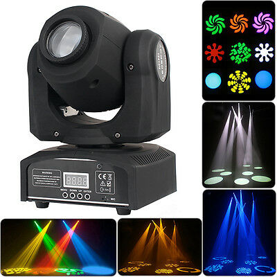 2x 30W LED Moving Head RGBW Effect Light DMX DJ Disco Stage Party Lighting Laser
