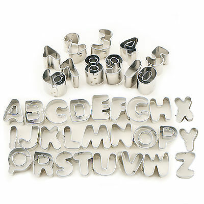 Stainless Steel Alphabet Letter Number Fondant Cutter Cake Cookie Biscuit Mold