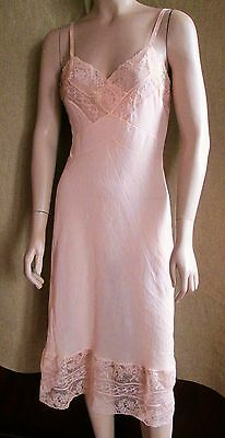 "Vintage Fine Nylon Full Slip Exquisite With Lace Size 36"" Bust Conlowe"