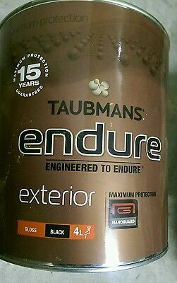 Taubmans exterior gloss  4 litre water based paint (new) black