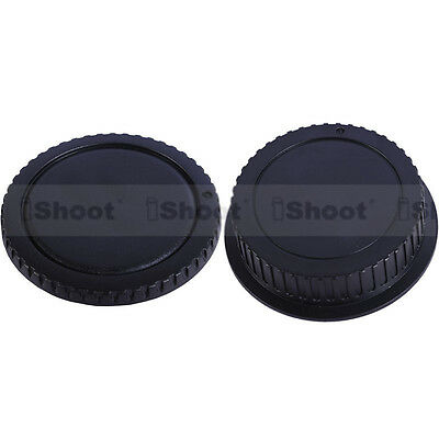DSLR camera body cover + rear lens cap for Canon EF-S EF EOS 500D 400D 300D 550D