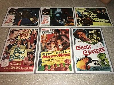 Rare THE BOWERY BOYS MEET MONSTERS 6 Movie Poster LOT /set/comedy/scary