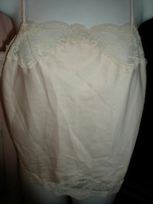 Vtg. Christian Dior Pink Camisole w Logo & lots of lace Size Medium