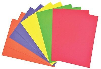 A4 Coloured Card: 100 Sheets, 200Gsm, 5 Colours