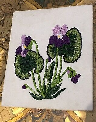 Vintage Vtg Old Knitting Embroidery Handmade Japanese Signed By The Artist