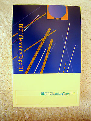DLT  8mm Camcorder Video Head Cleaning Cassette/Tape III