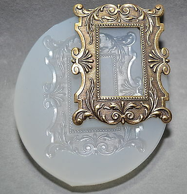 Victorian Frame Silicone Mould Chocolate Sugarcraft Mold Clay Fimo Resin Utee