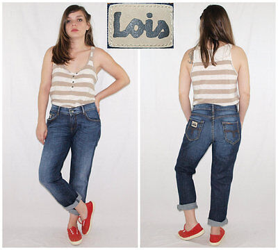 Vintage 90´s LOIS jeans REGULAR FIT dark wash+straight leg W29