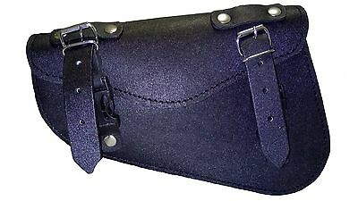 Saddle Tool Bag Leather Harley Motorcycle Style Biker Rider Storage Tool Pouch