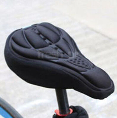3D GEL Silicone Bike Bicycle Cycle Extra Comfort Saddle Seat Pad Cushion CoverHT