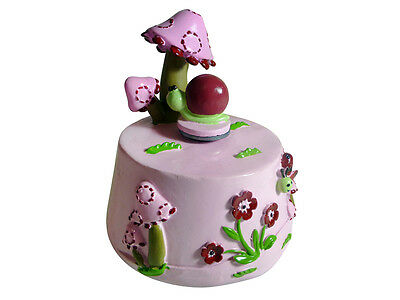 MUSIC BOX PINK MUSHROOM - Plays music and turns around. Baby or Young girl gift