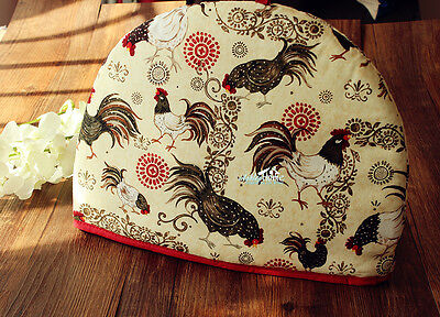 Rustic Cottage Roosters Pattern Teapot Tea Cosy Cozy