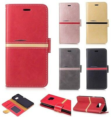 New Magnetic Fashion Flip PU Leather Card Pocket Kickstand Case Cover For Phone