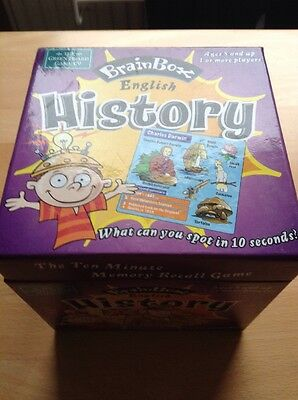 Brainbox English History Memory Game For 1 Or More Players Ages 8+ USED