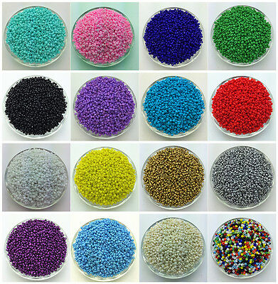 NEW DIY 2MM 3MM 4MM Size Glass With silve Seed Spacer beads Jewelry Fitting J