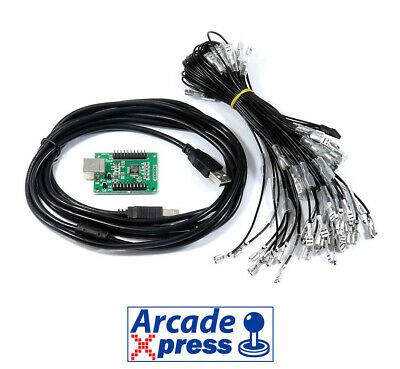 Arcade usb 2 player encoder Xin Mo PC Interfaz Raspberry Pi compatible MAME