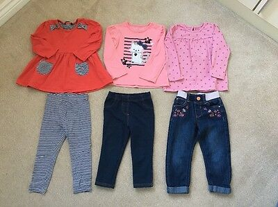 Bundle Baby Girl Outfits 18-24 Months (6 Items)