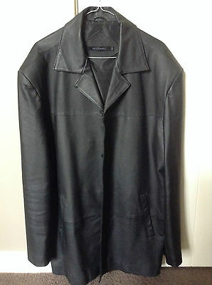 Harry Klaider Black real Leather Jacket in X-Large Size, Fantastic Cond near new