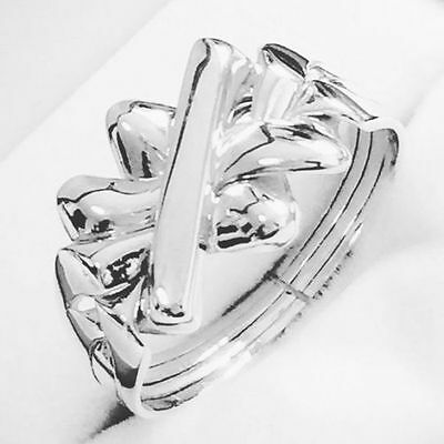 """UNISEX """"PUZZLE RING"""" Sterling Silver- 925 - Sizes 5.5 to 13.75 US"""