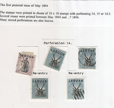Labuan , 1894 Selection Includes Re Entry Types