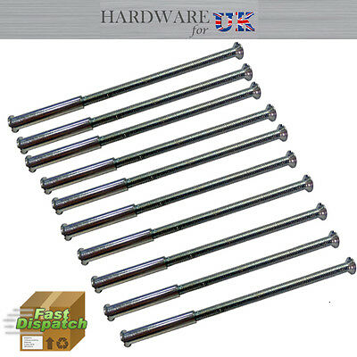 100 x M3 SCREW  CONNECTING BOLTS AND SLEEVES FOR DOOR HANDLE ROSES & ESCUTCHEONS