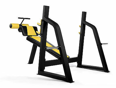 PowerGym Fitness Commercial Decline Bench Press Station Not Flat Incline
