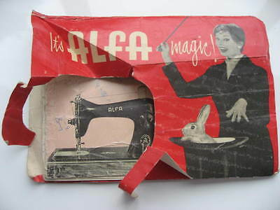 Vintage ALFA Model 42 Sewing Machine Instruction Book